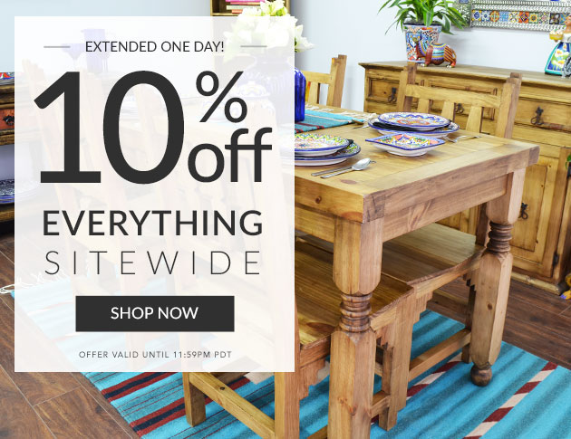 10% Off Everything Sitewide - Ends Tonight!