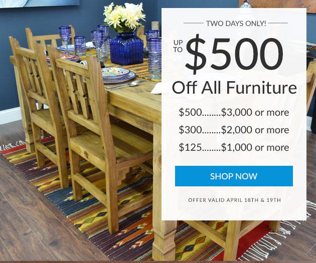 $125-$500 Off Furniture