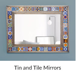 Tin and Tile Mirrors