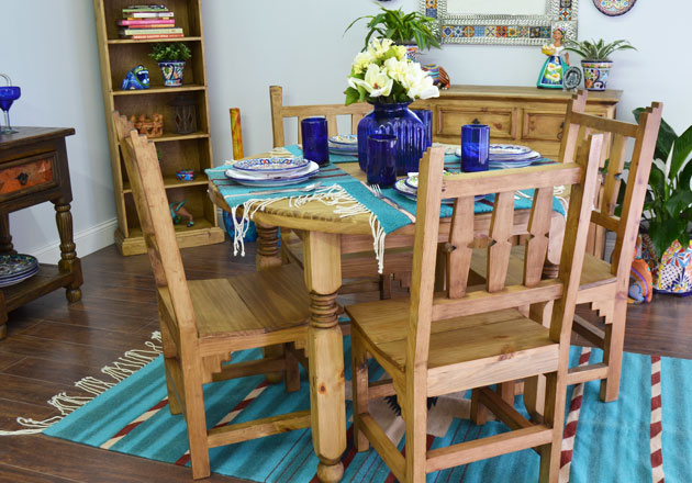 Rustic Pine Collection Dining Tables