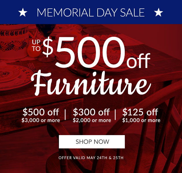 Up to $500 off Furniture
