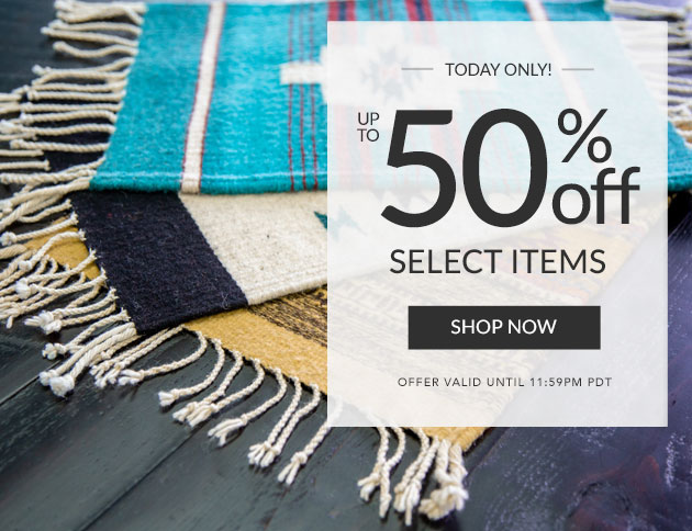 Ends Tonight - Up to 50% Off Select Items