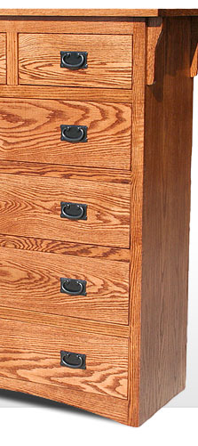 American Mission Oak - 6 Drawer Dresser