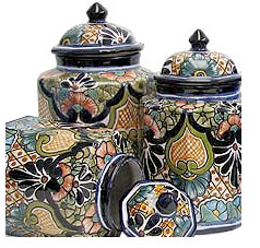 Talavera Kitchen Canisters