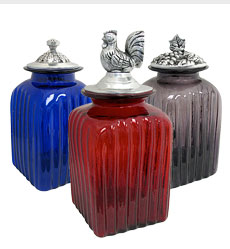 Blown Glass Canisters