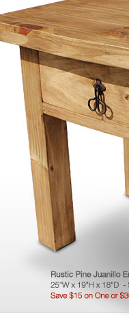 Rustic Pine Collection - Juanillo End Table