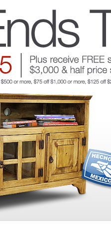Rustic Pine Collection - Gregorio 60 Inch TV Stand