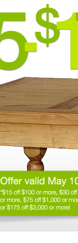 Rustic Pine Collection Square Lyon Coffee Table