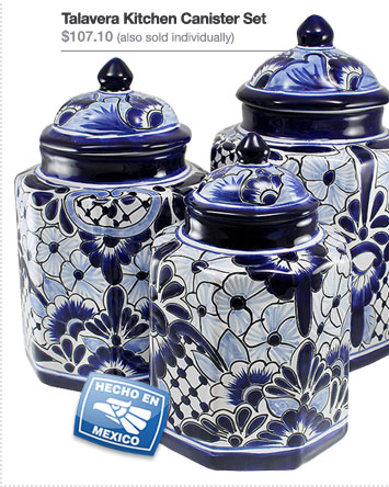 Talavera Kitchen Canister Set - $107.10 (also sold individually)
