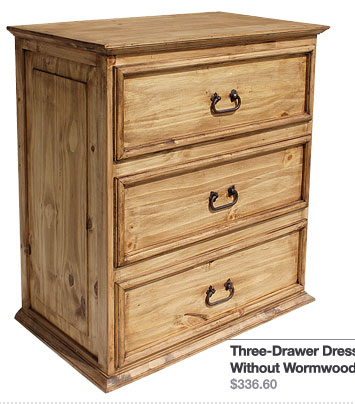 Three-Drawer Dresser Without Wormwood - $336.60