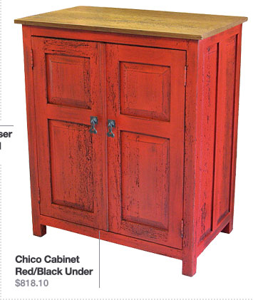 Chico Cabinet Red/Black Under - $818.10