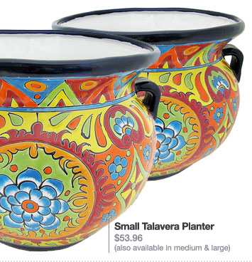 Small Talavera Planter - $53.96 (also available in medium & large)
