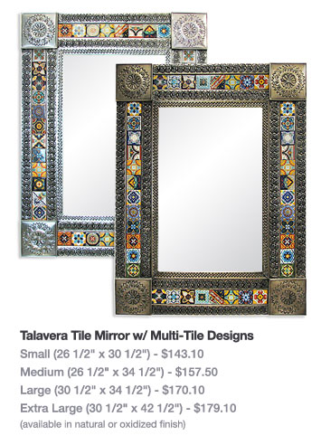 Talavera Tile Mirror w/ Multi-Tile Designs