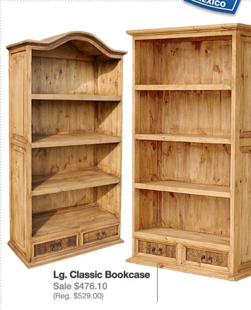 Rustic Pine Collection Bookcases