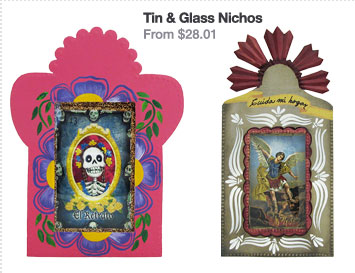 Tin and Glass Nichos