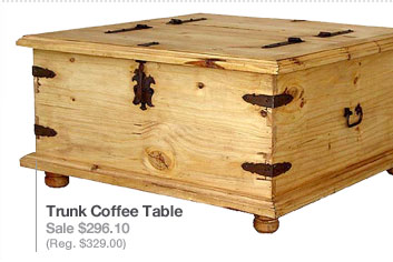 Rustic Pine Collection Trunk Coffee Table