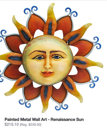 Painted Metal Wall Art - Renaissance Sun $215.10