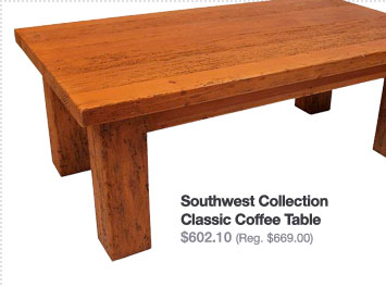 Southwest Collection Classic Coffee Table $602.10
