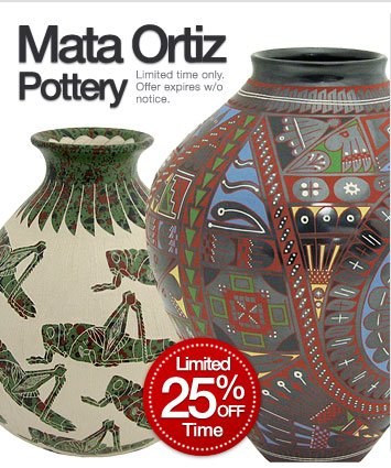 25% Off Mata Ortiz Pottery