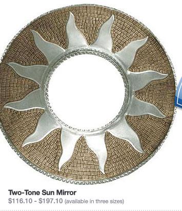 Two-Tone Sun Mirror