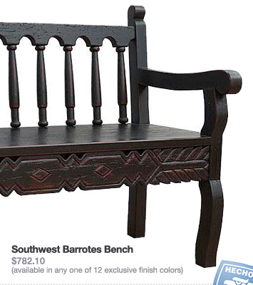Southwest Barrotes Bench