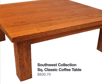 Southwest Collection Sq. Classic Coffee Table