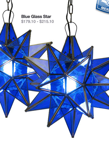 Blue Glass Star