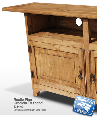 Rustic Pine Graciela TV Stand - Save $30.00 through October 18th