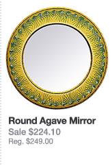 Round Agave Mirror