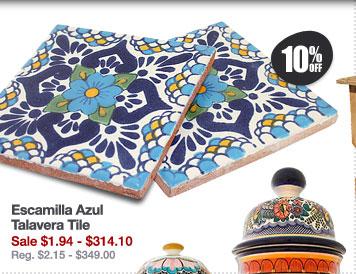 Escamilla Azul Talavera Tile