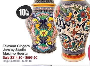 Talavera Gingers Jars by Studio Maximo Huerta