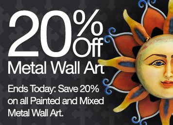 Ends Today: Save 20% on all Painted and Mixed Metal Wall Art