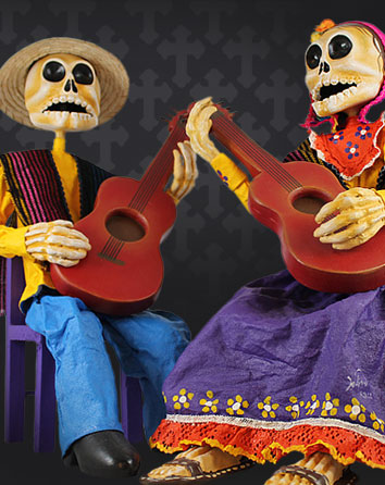 Day of the Dead Paper Mache Figures