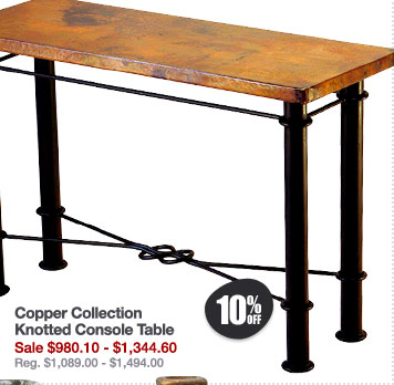Copper Collection Knotted Console Table