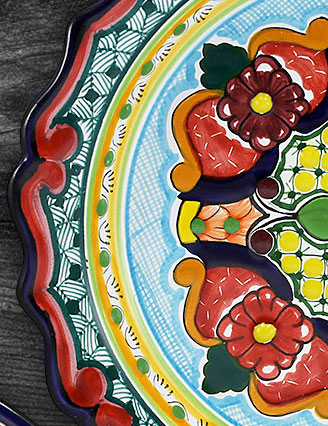 Today and tomorrow save 15% on all hand-painted Mexican Talavera plates.