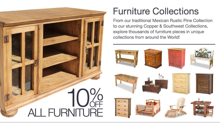 Today and tomorrow save 10% on all furniture collections.