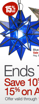 Blue Glass Star - 15% Off All Art and Home Decor