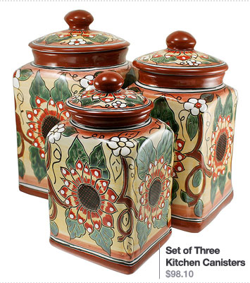 Set of Three Kitchen Canisters $98.10