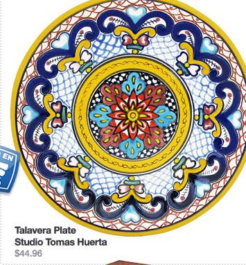 Talavera Plate Studio Tomas Huerta