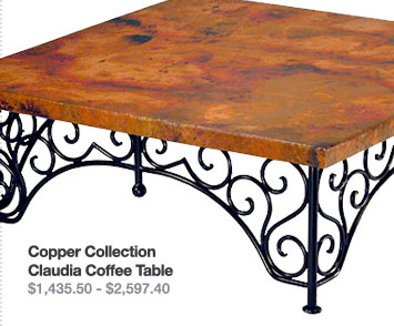 Copper Collection Claudia Coffee Table