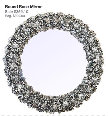 Round Rose Mirror