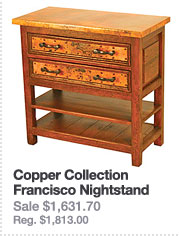 Copper Collection: Francisco Nightstand