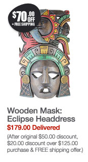Wooden Mask: Eclipse Headdress
