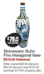 Buho Fino Hexagonal Vase