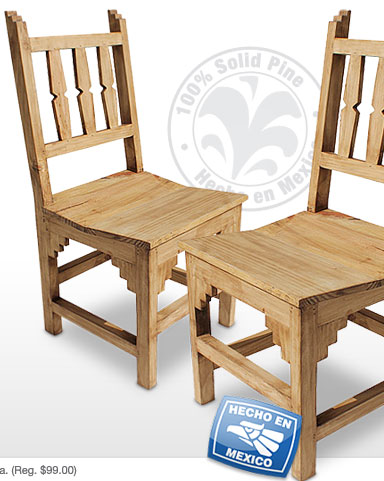 Rustic Pine New Mexico Chairs