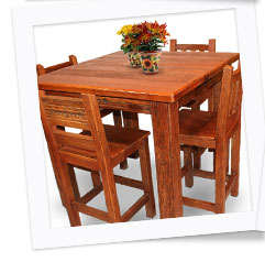 Southwest Collection Square Taos Dining Table