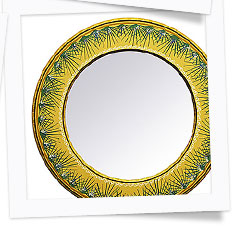Karpastado Collection Painted Wooden Mirrors