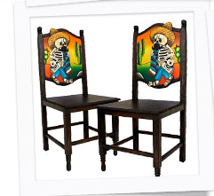 Carved and Painted Chairs
