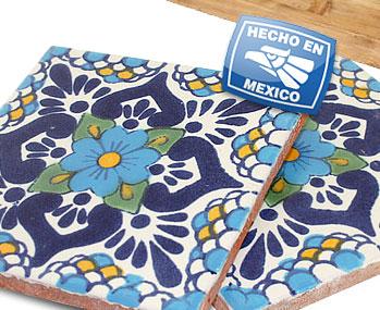 Talavera Tile Escamilla Azul