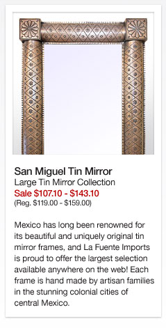 San Miguel Tin Mirror